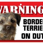 Border Terrier Warning Sign-0