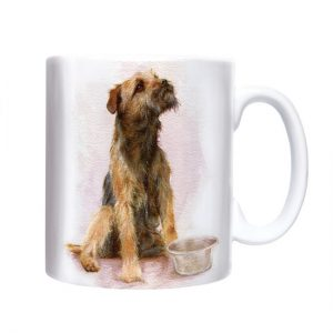 Border Terrier Watercolour- Chunky Mug-0