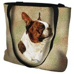 Brown Boston Terrier Tote Bag -0