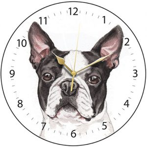 Boston Terrier - Clock-0