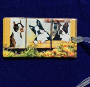 Boston Terrier Luggage Bag Tag-0