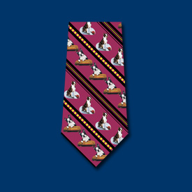 Boston Terrier Red Neck Tie-0