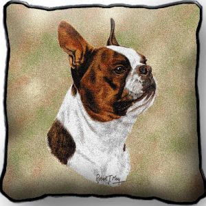 Boston Terrier (brown) - Tapestry Cushion Cover-0
