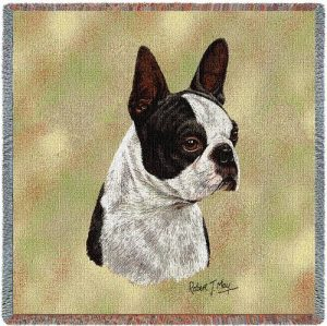 Boston Terrier Tapestry Throw-0