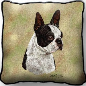 Boston Terrier (Black) Template - Tapestry Cushion Cover-0