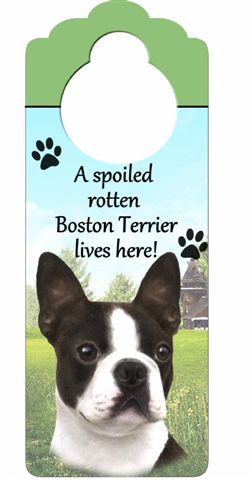 Boston Terrier Door Knob Sign-0