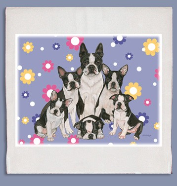 Boston Terrier Kitchen Tea Towel-0