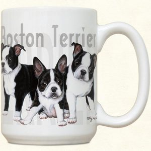 Boston Terrier Puppies Mug-0