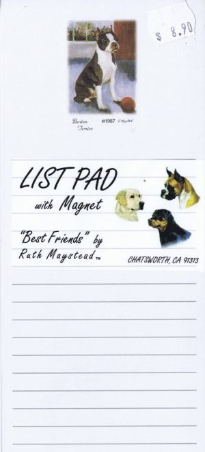 Boston Terrier - Magnetic List Pad-0