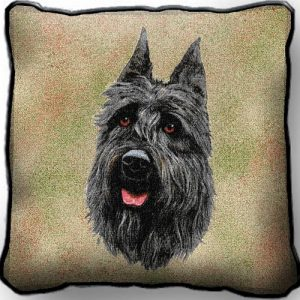 Bouvier Des Flandres Tapestry Cushion Cover-0