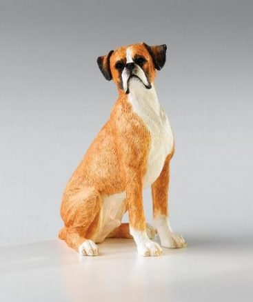 Boxer Sitting Figurine-0