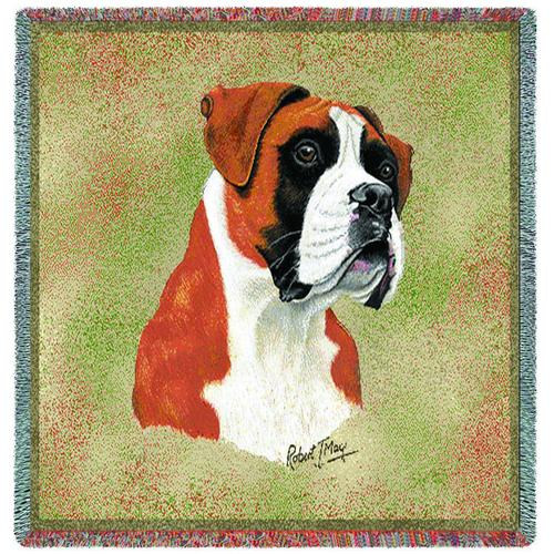 Boxer Square Tapestry Throw-0
