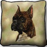 Boxer (Brindle) Tapestry Cushion Cover-0
