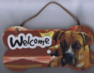 Boxer - Welcome Hanging Sign-0