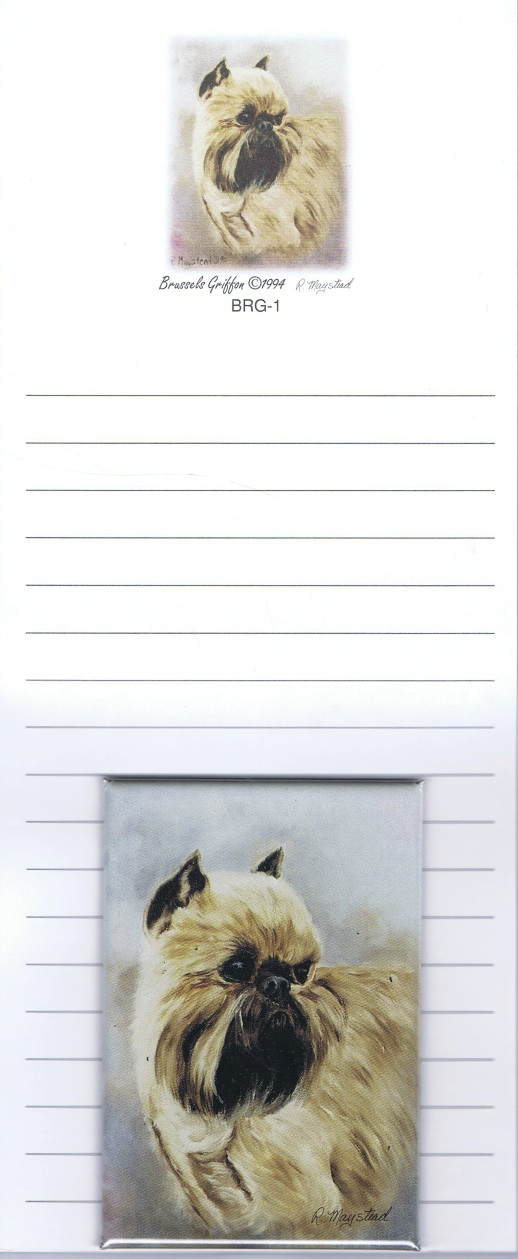 Brussels Griffon – List Pad & Magnet Combo-0