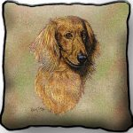 Dachshund Tapestry Cushion Cover (long haired)-0