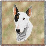 Bull Terrier Square Tapestry Throw-0
