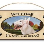 Bull Terrier - Welcome Hanging Sign-0