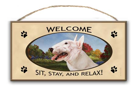 Bull Terrier – Welcome Hanging Sign-0