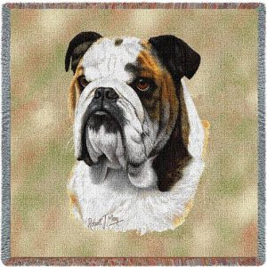 Bulldog Square Tapestry Throw-0