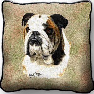 Bulldog Tapestry Cushion Cover-0