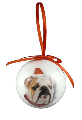 Bulldog Christmas Bauble-0