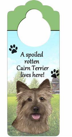 Cairn Terrier Door Knob Sign-0