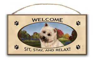 CairnTerrier - Welcome Hanging Sign-0