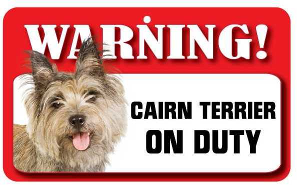 Cairn Terrier Warning Sign-0
