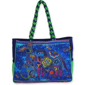 Laurel Burch 'Canine Family' Oversized Tote Bag-0