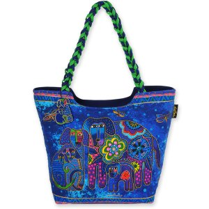 Laurel Burch 'Canine Family' Scoop Tote Bag-0