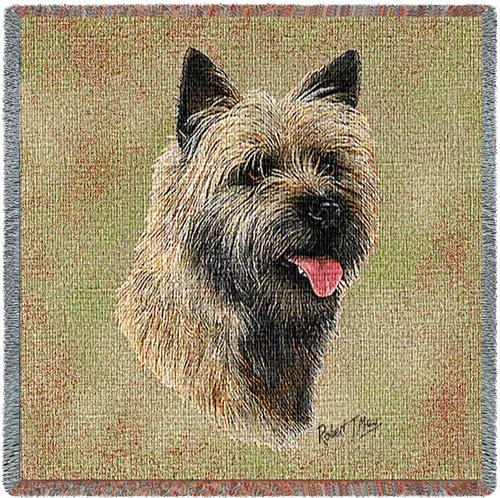 Cairn Terrier Tapestry Throw-0