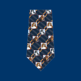 Cavalier King Charles Blue Neck Tie-0