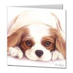 Cavalier King Charles Spaniel - Watercolour Blank Card-0