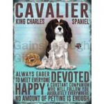 Cavalier King Charles- Hanging Metal Sign-0