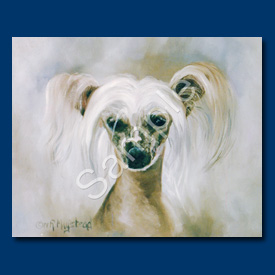 Chinese Crested- 6 pack Note Cards--0
