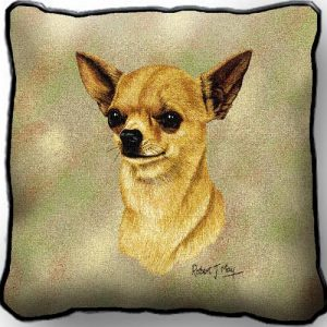 Chihuahua 2 Tapestry Cushion Cover-0