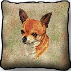 Chihuahua Tapestry Cushion Cover-0
