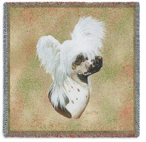 Chinese Crested Dog Square Tapestry Throw-0