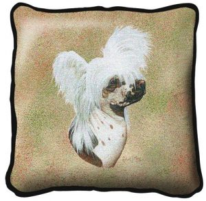 Chinese Crested Tapestry Cushion Cover-0