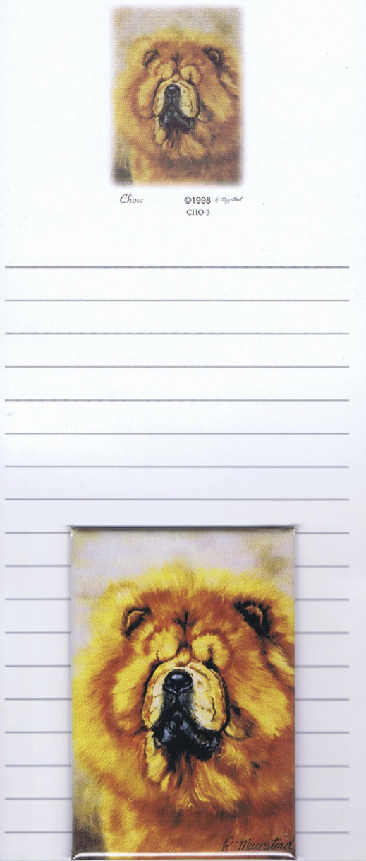 Chow Chow – List Pad & Magnet Combo-0