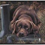 Labrador retriever Doormat -choc