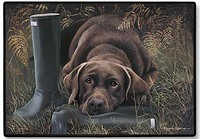 Chocolate Labrador Door Mat-0