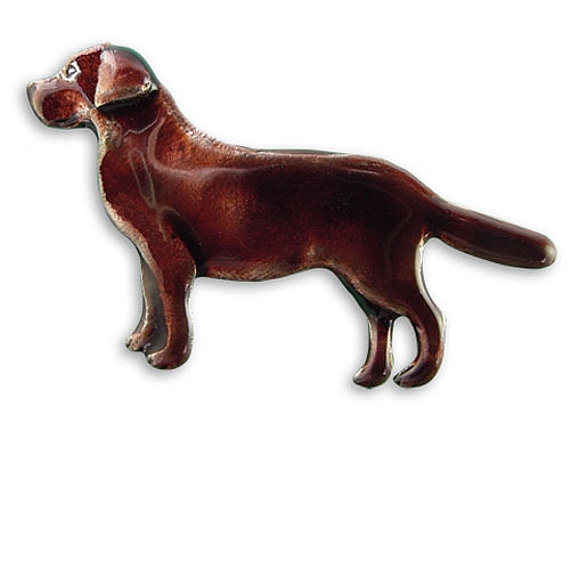 Enamel Chocolate Labrador pin-0