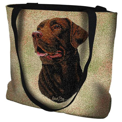 Chocolate Labrador Tote Bag-0