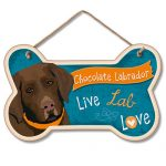 Chocolate Labrador – Hanging Sign-0