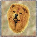 Chow Chow Tapestry Throw-0