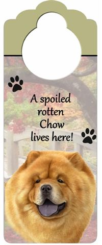Chow Chow Door Knob Sign-0
