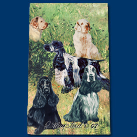 English Cocker & Clumber Spaniels - Deluxe Ink Pen--0