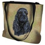 Black Cocker Spaniel Tote Bag -0